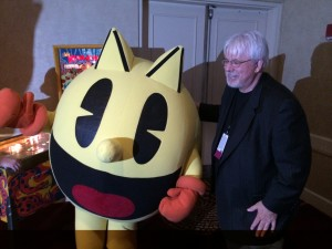 Hanging out with Pac Man